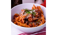Creamy Sundried Tomato Penne with Summer Sausage